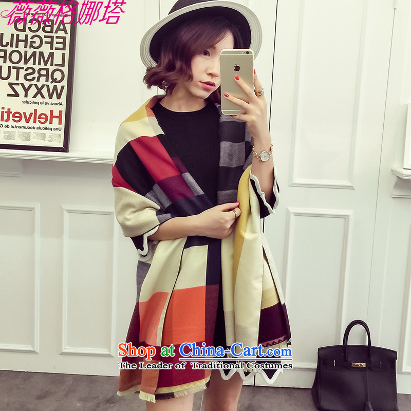 Weiwei Grid Natasha autumn and winter new western Show Grid color, color squares spell pashmina AA1544 emulation in the main color195_70cm