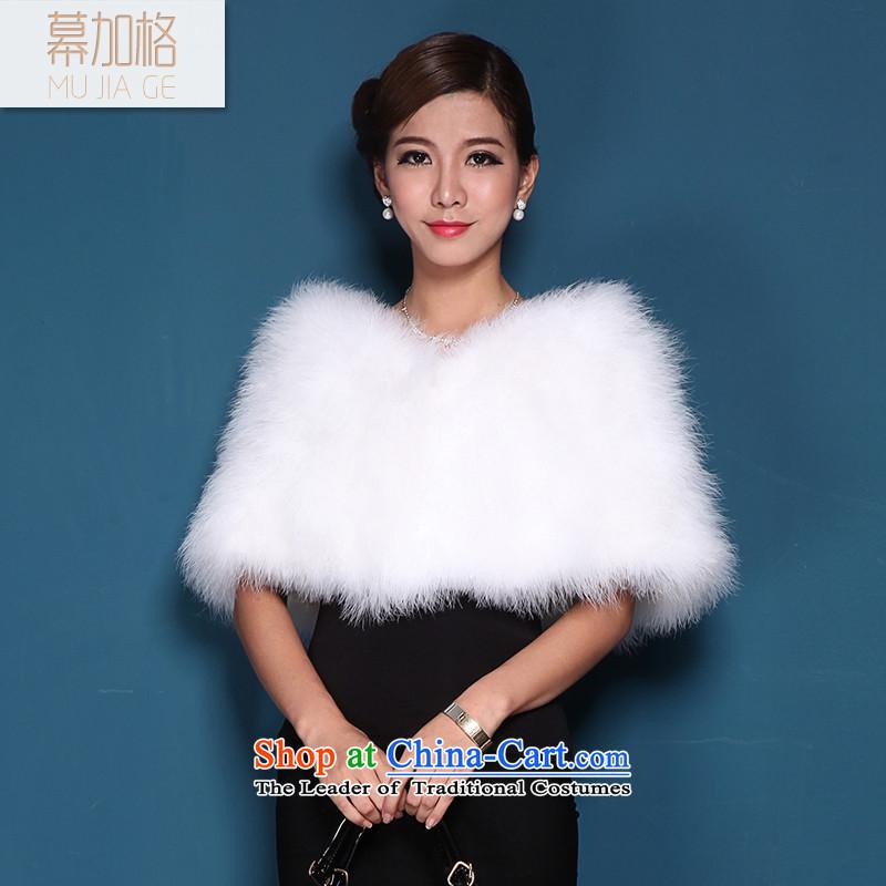 The Gagra autumn and winter ostrich feathers bride wedding shawl wedding dress bridesmaid fur coat Kampala shoulder M5602 shawl White