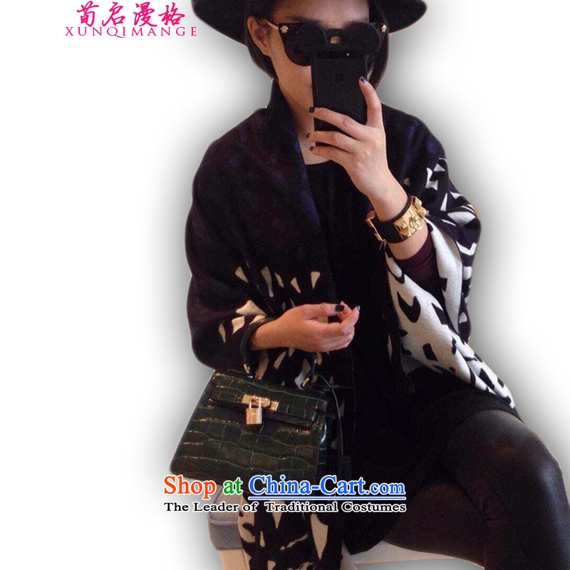Sun Kai Man, autumn and winter new double-sided with the leopard pashmina shawl XWY612 cotton grain stone map color