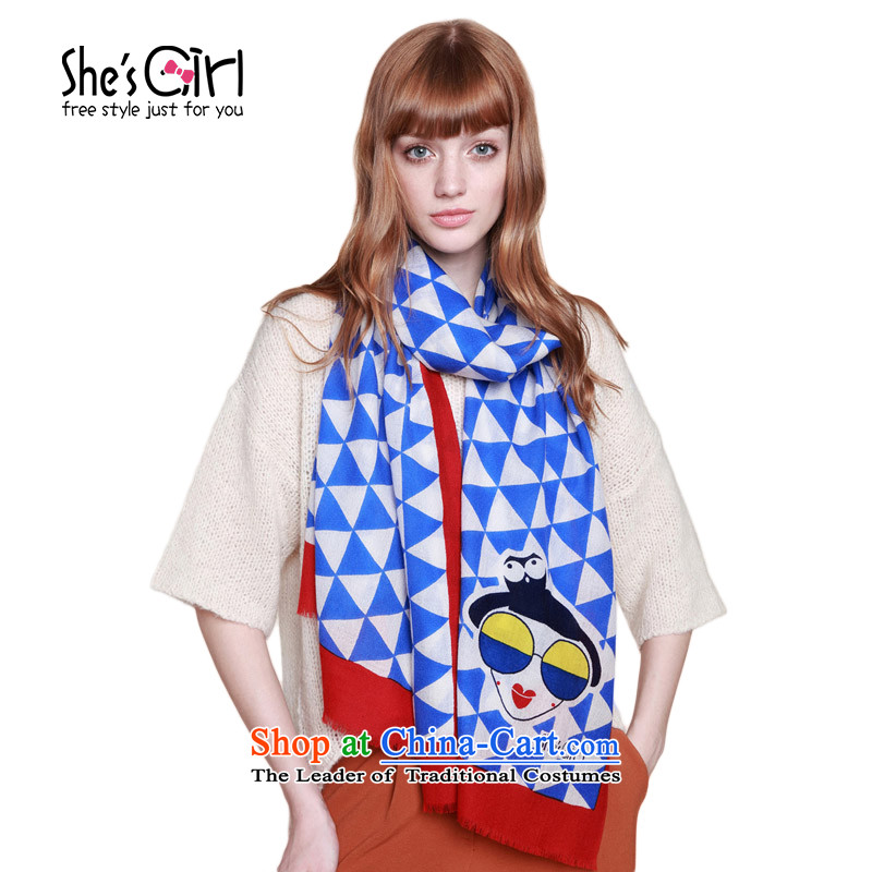 Mrs Ure child accessories she'sgirl Miss Paris Pope Triangle Plane Collision-color printing wool Fancy Scarf GSP9519320 C0