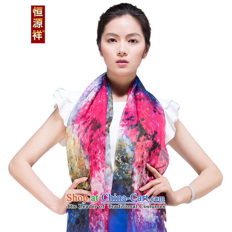 Hengyuan Cheung silk scarves, autumn and winter long herbs extract Fancy Scarf 195-2#4313