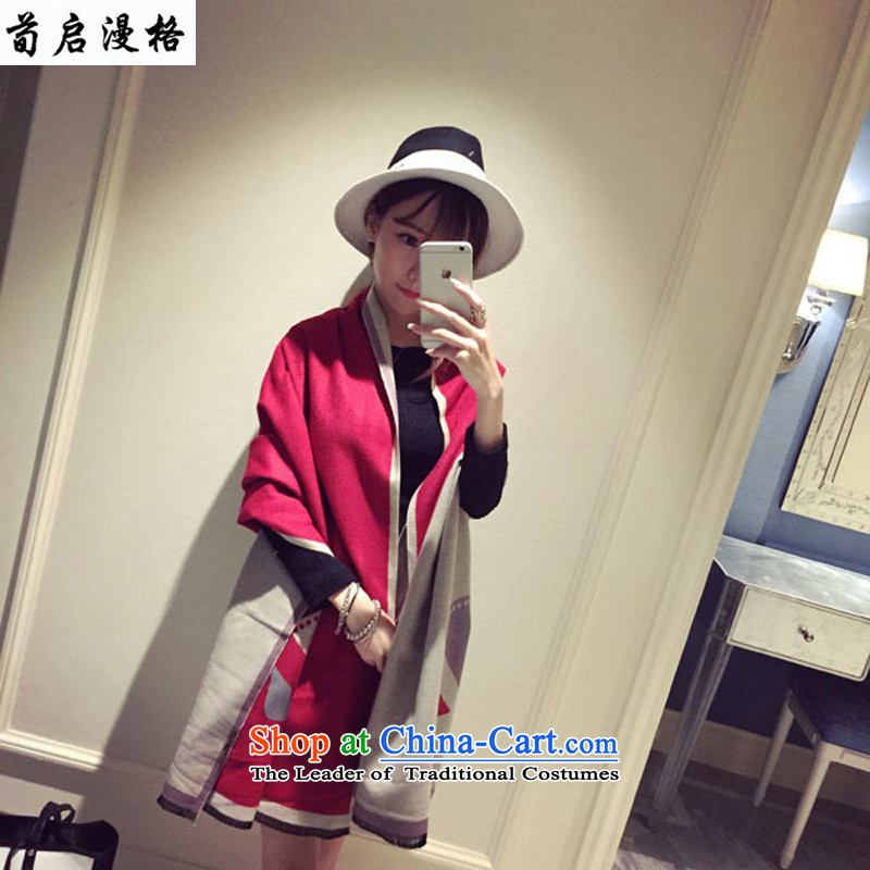 Sun Kai Man, autumn and winter New Small Devil monsters scarf warm shawl XWY6174313m red