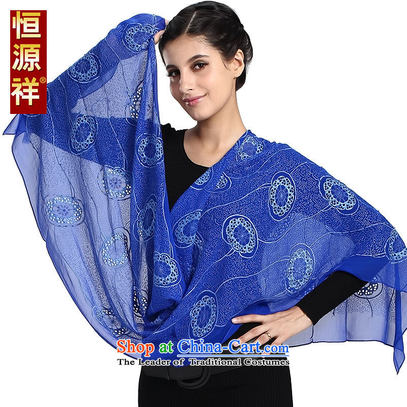 Hengyuan Cheung silk scarves, Solid Color engraving Fancy Scarf by Po, two