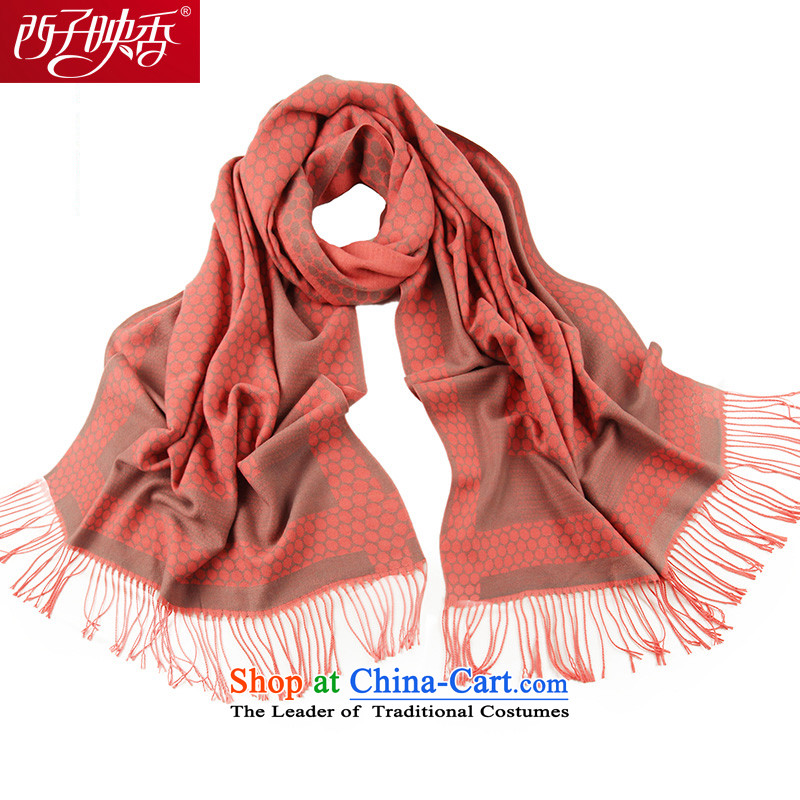 Hsitzu Hong autumn and winter scarf warm new grid Extralong and fancy scarf stylish won a Diamond red Version