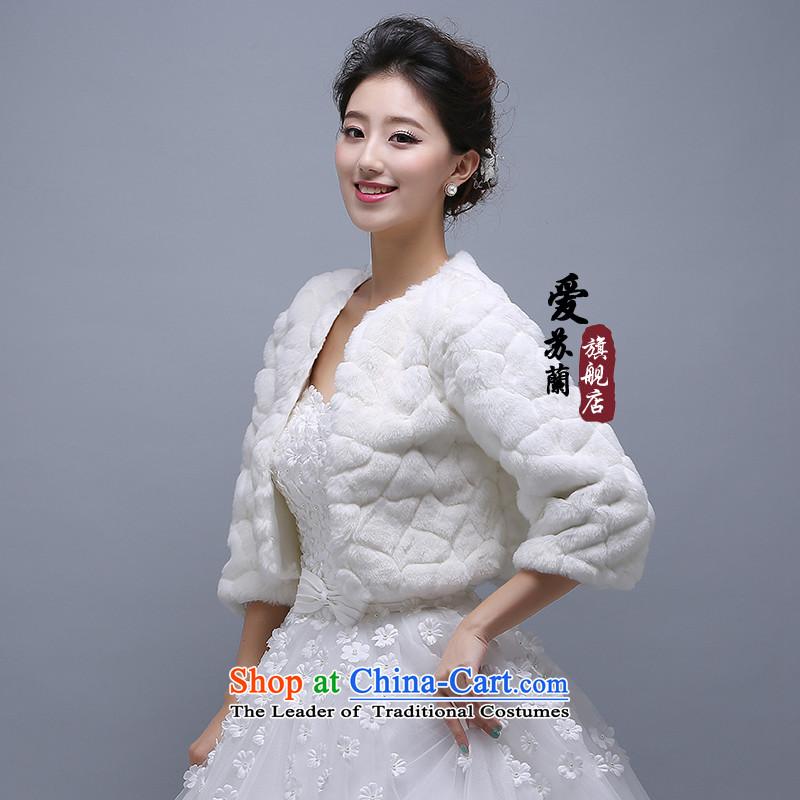 The new 7-repair warm white rabbit woolen shawl bride shawl warm mandatory shawl wedding dresses Wild hair, Love Su Joram shawl shopping on the Internet has been pressed.