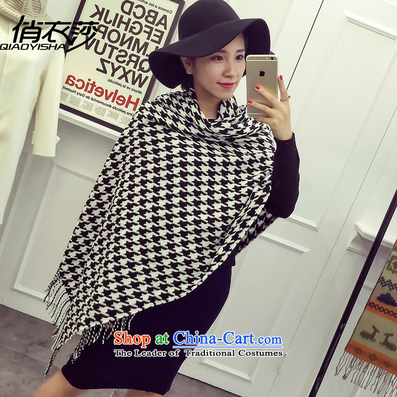 For autumn and winter clothing Windsor new classic black and white rectangular grid chidori Knitting scarves stylish couples with a two main map color200*80cm QA1533