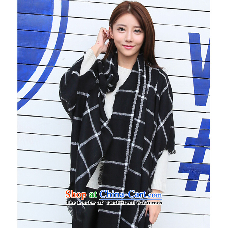 2015 Autumn and winter new character of couples sub scarf warm with two shawls YF0863 black