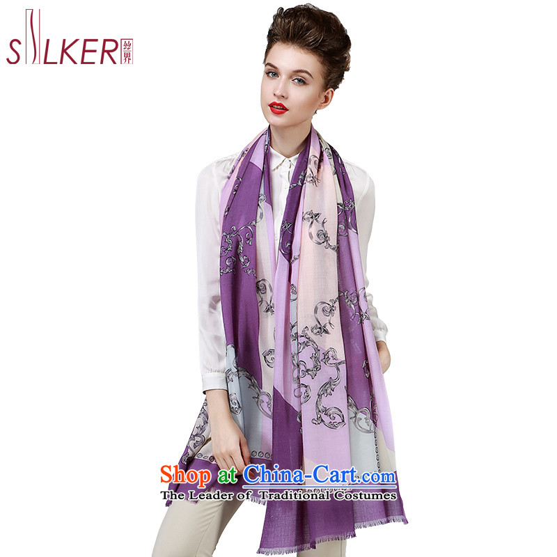 The population sector SIGI autumn and winter new wool woolen shawl Ms. scarves stamp Fancy Scarf Two elegantly Argyle Purple