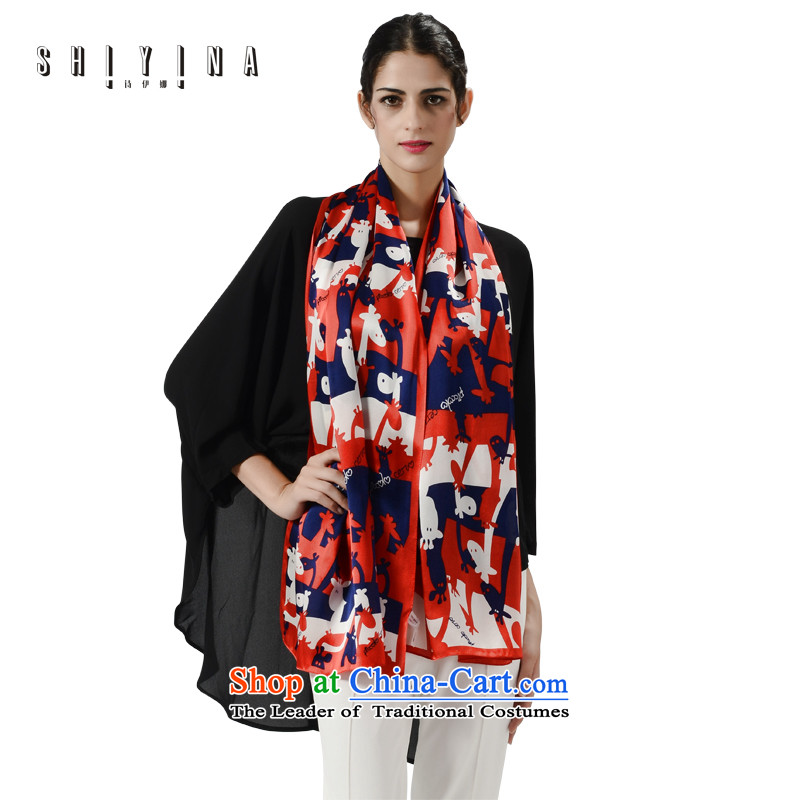 Poetry ina (shiyina) spring and autumn new herbs extract silk scarf silk scarfs women cape long masks in the Korean version of the lovely Sorok Long Red Silk Scarf