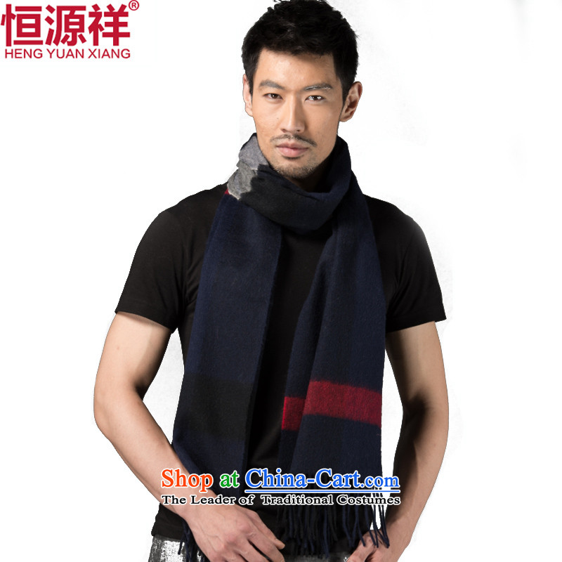 Hengyuan Cheung wooler scarf Men's Plaid autumn and winter thick black scarf possession of couples estimated