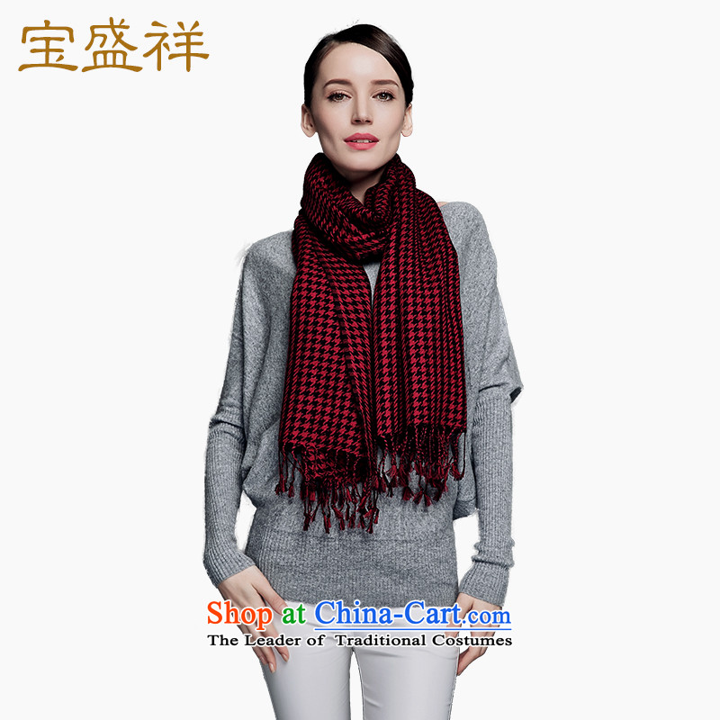 Eric blossom scarf autumn and winter new Ms. worsted wooler scarf 80 thousand Birds of a Red Shawl Chidori Grid