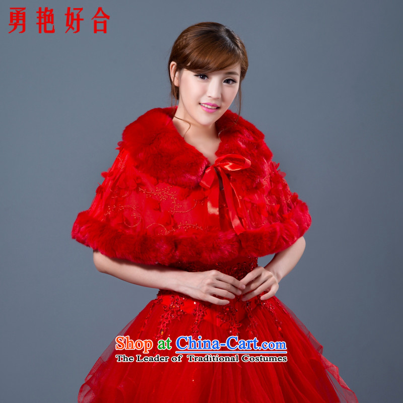 Yong-yeon and 2015 New gross shawl wedding dresses qipao bridesmaid shawl marriage jacket bride shawl red autumn and winter red winter shawl