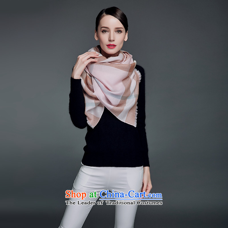 Ms. Cheung blossom woolen scarves shawl wild latticed large shawl autumn and winter wool long scarf female toner large wire, Blossom Cheung shopping on the Internet has been pressed.