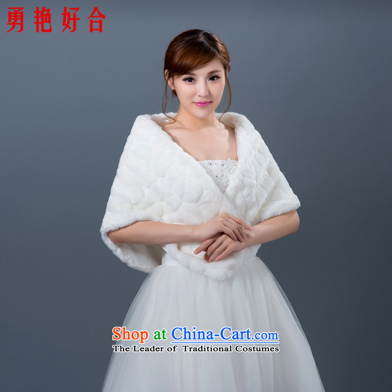 Yong-yeon and bows of autumn and winter welcome marriage rough edges wedding dresses increase wedding dresses warm white winter shawl shawls gross