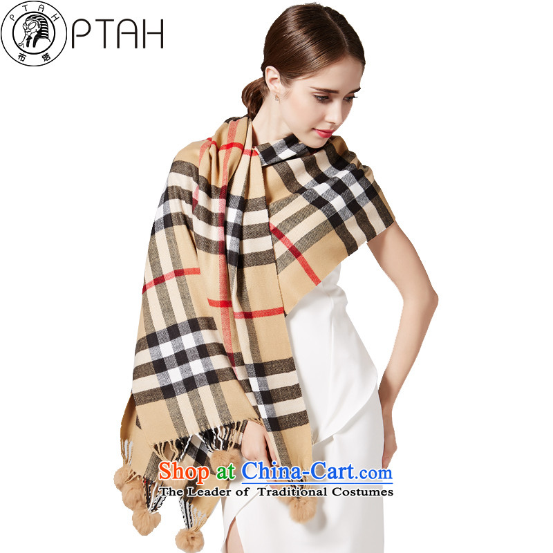 In the autumn and winter, scarf of England latticed streaks oversized thick a warm air-conditioning with two shawls rabbit hair ball and scarves color