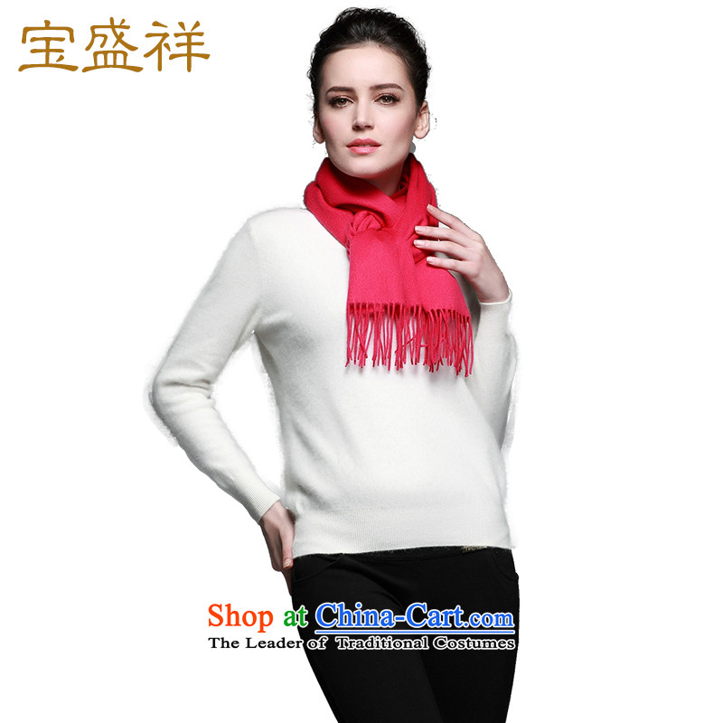 Eric blossom聽15 years New Cashmere wool scarf classic plain solid, wool handkerchief also better red