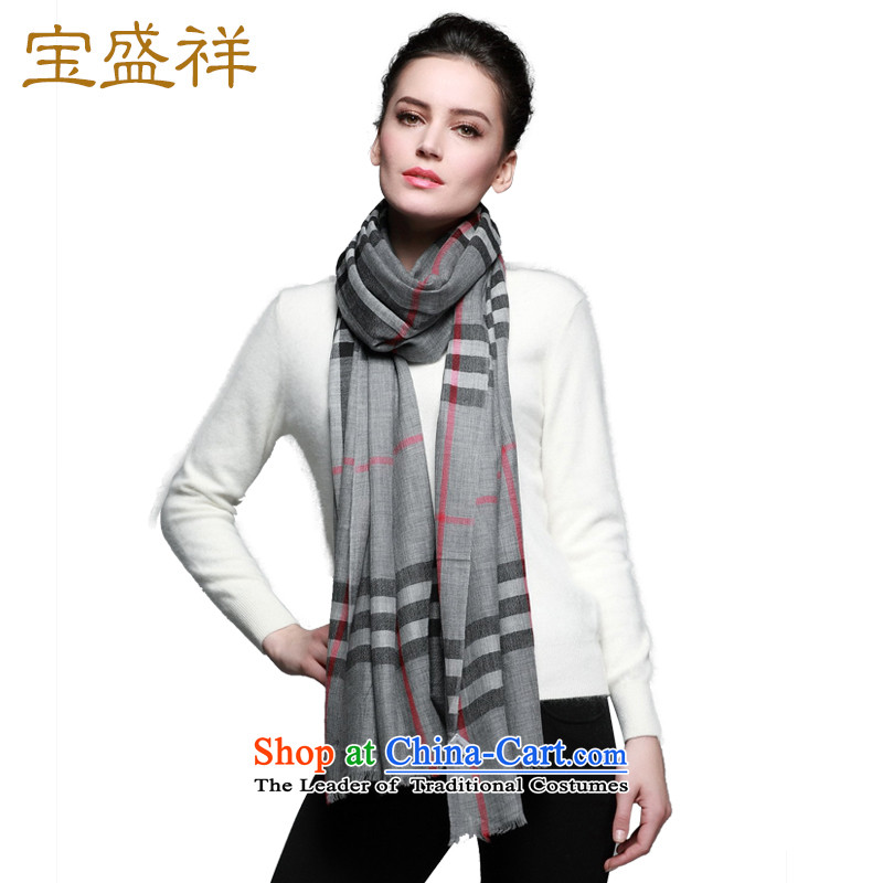 Eric blossom 200 new autumn and winter, wool Plaid Fancy Scarf water-soluble wool Classic Grid a female Gray