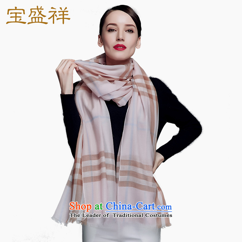 Eric blossom 200 new autumn and winter, wool Fancy Scarf water-soluble wool extralong Classic Grid Fourth quarter A female pink.