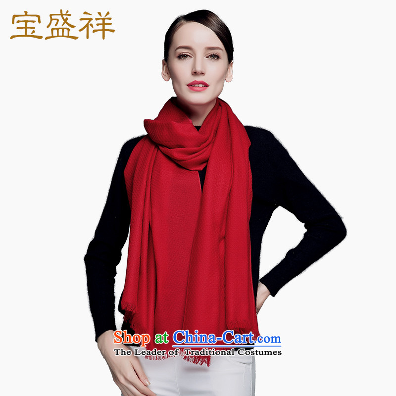 Eric blossom autumn and winter new o capillary wool pineapple tattoo Ms. scarves extralong a plain solid color woolen shawl scarf wine red