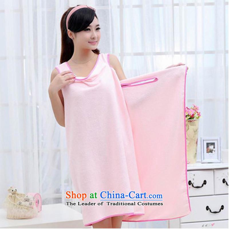 Creative bath towels bathrobes can wear large bath towel absorbent good Pink