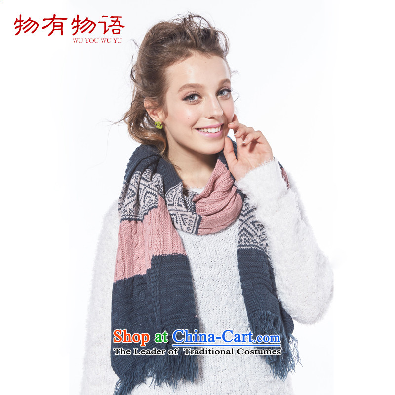 With the end of the scarf Monogatari autumn and winter Ms. new stylish warm sweater scarves knitted a Powder Blue are code