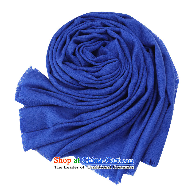 Shanghai Story autumn and winter Korean president wool of large warm color Fancy Scarf Blue