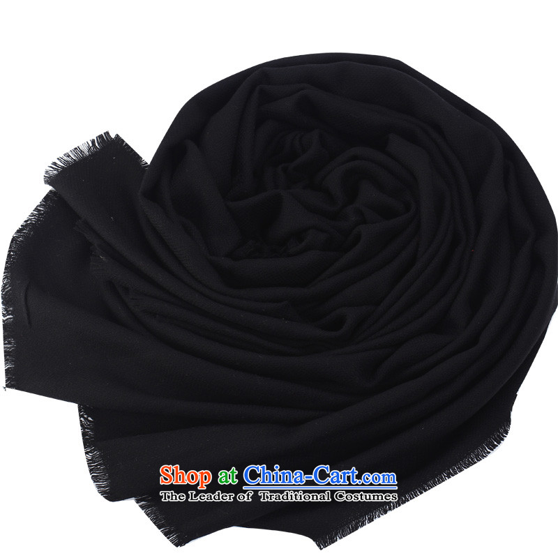 Shanghai Story autumn and winter Korean president wool of large warm color Fancy Scarf black
