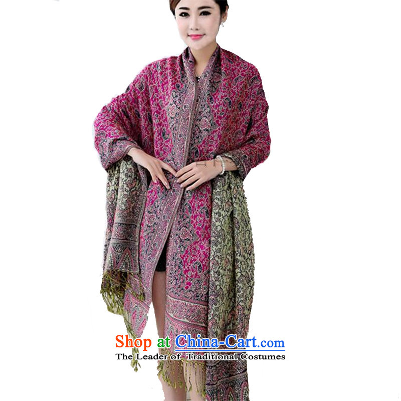 Ethnic shawl female scarf shawl Ms.4313widen the maxi scarf dark red 100*225 Mui