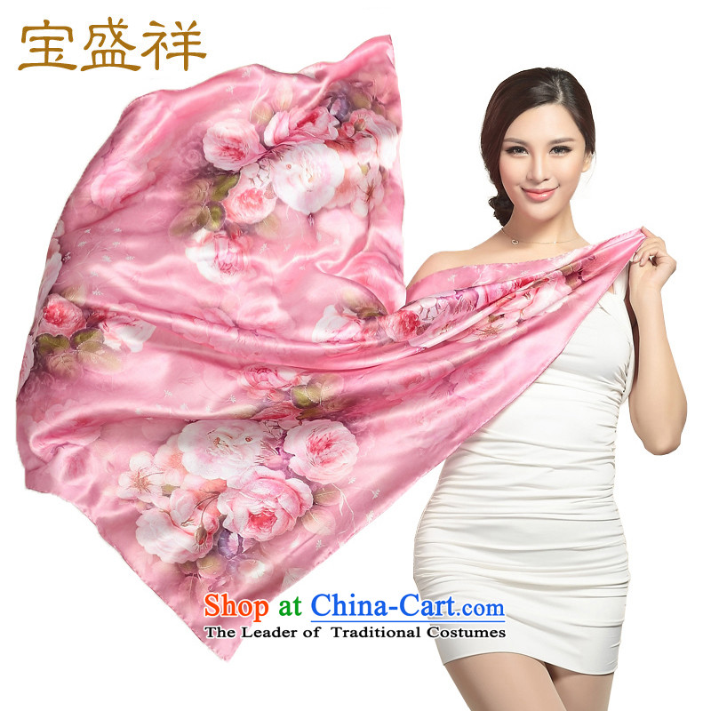 Eric blossom herbs extract damask digital printing long Ms. Fancy Scarf silk scarf shawl, starring the Spring and Autumn period the mandatory Pink