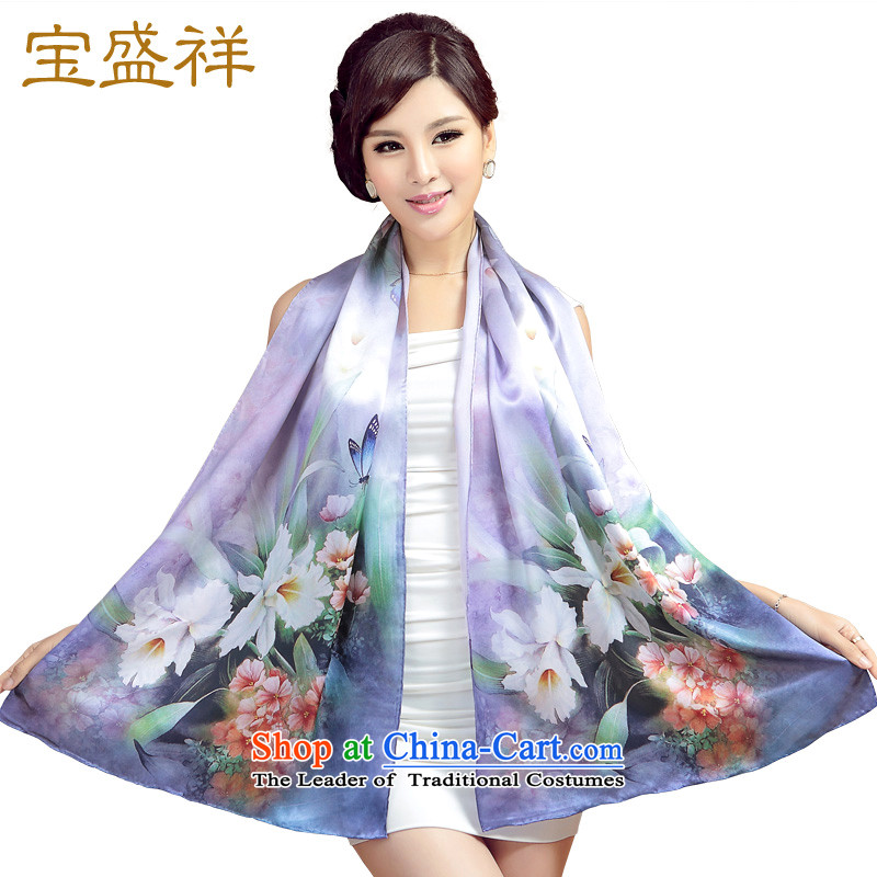 Eric blossom silk scarf sauna silk satin digital printing temperament elegant long silk scarf shawl Ms. Noble and elegant