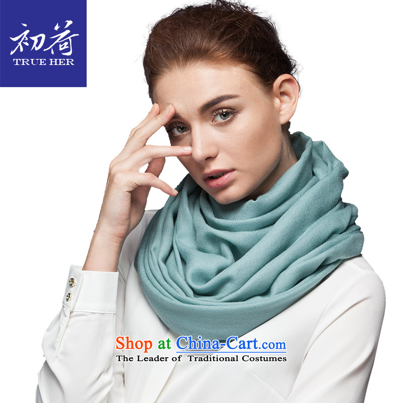 I should be grateful if you would arrange early Pure Wool scarves, pure color of autumn and winter new ultra long warm a shawl4313gift box OL Series Indigo