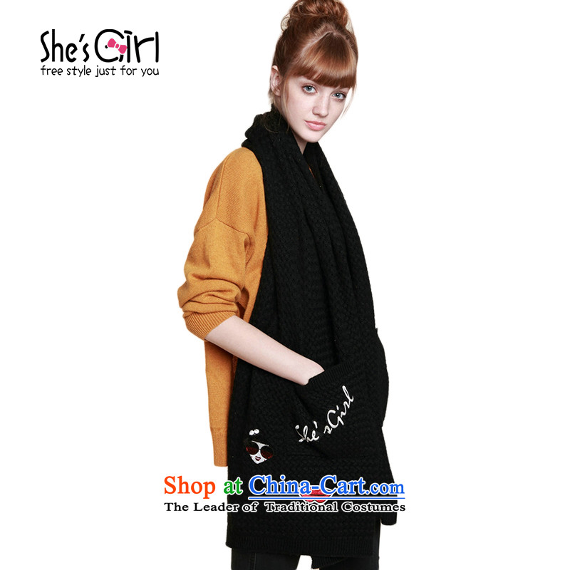 Miss Paris embroidery posted she'sgirl pockets with a thick scarves shawl GSL9511280 G0