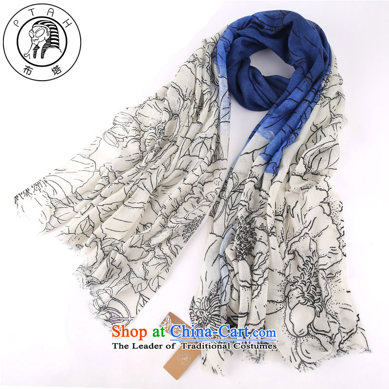 In the 2015 autumn and winter long Cashmere wool pashmina shawl Fancy Scarf dual-use warm a wild blue