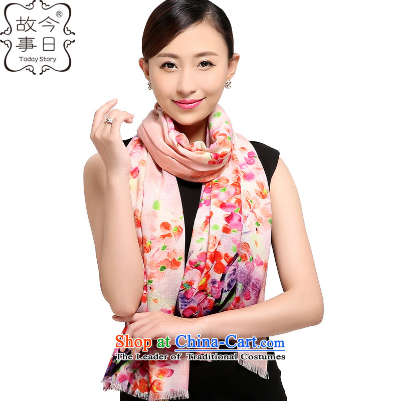 Today the story of autumn and winter 2015 Ms. new Korean 80 digital inkjet o wooler scarf upscale warm air baffle shawl178005all flowers were orange