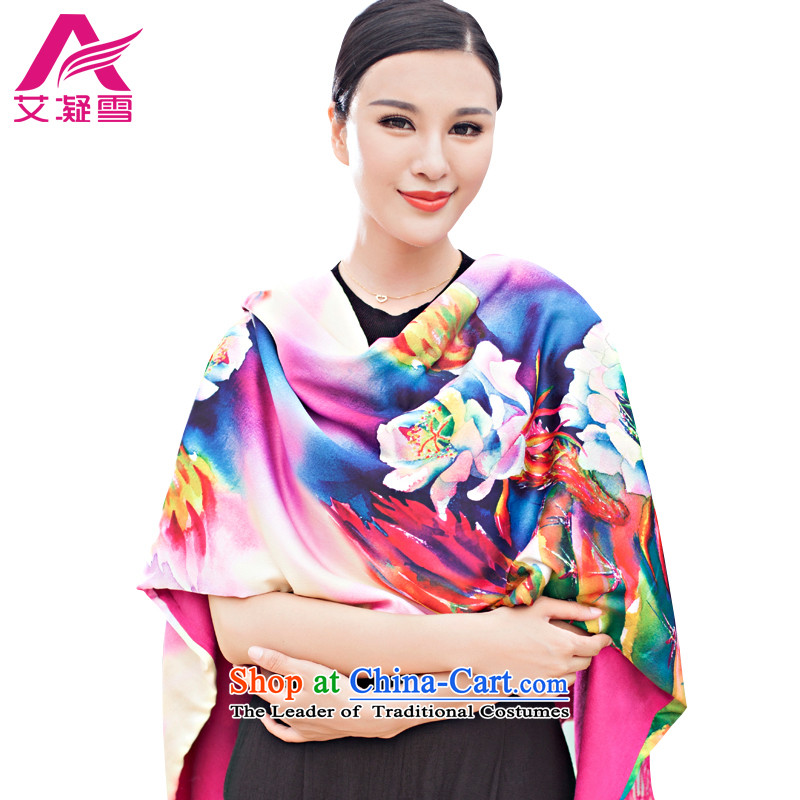 The Korean version of the stylish new 2015 Autumn and Winter Female warm longer scarves duplex printing large shawl thick solid color AWF40