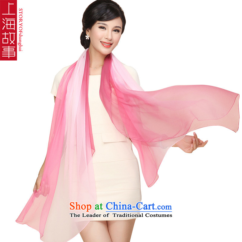 Shanghai Story silk scarves summer poster stamp herbs extract shawl scarf female GC1
