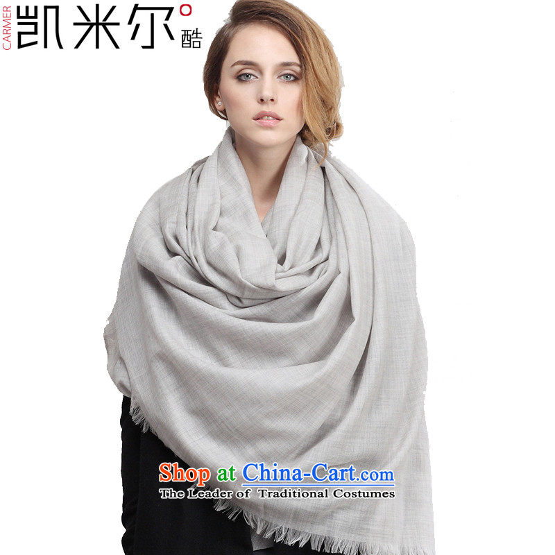 Kemi's core2015 Spring, spring and summer, scarf extended solid color woolen scarves spent large gray
