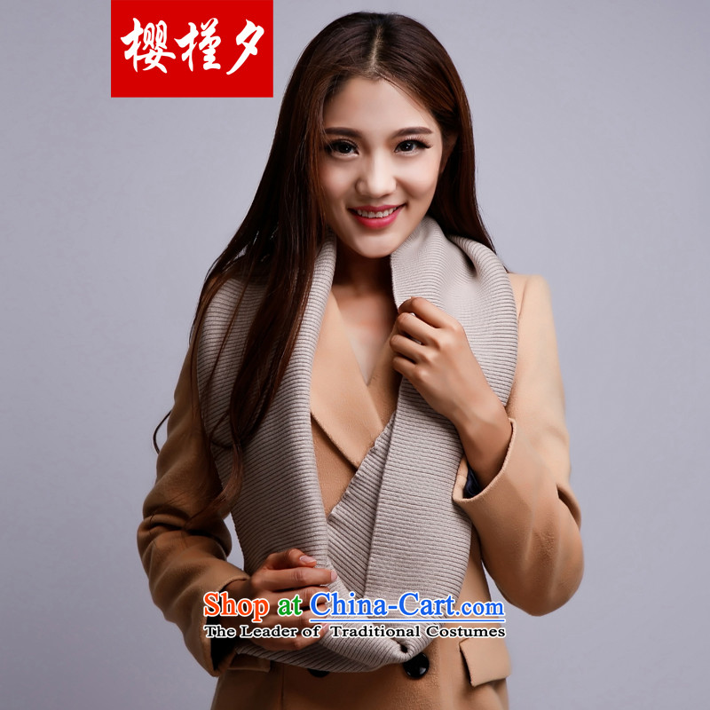 Sakura Geun-precarious2015 autumn and winter New Pure cashmere wool of chokeholds also women and two in plain colors Korean long thick warm shawl package mail delivery and Color Codes