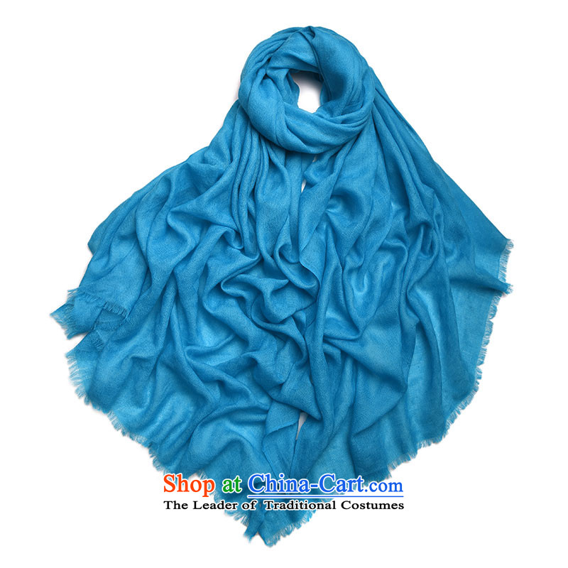Kemi, diamond pure cashmere shading core scarf shawl scarf SWC075 rings lint-free concealed blue