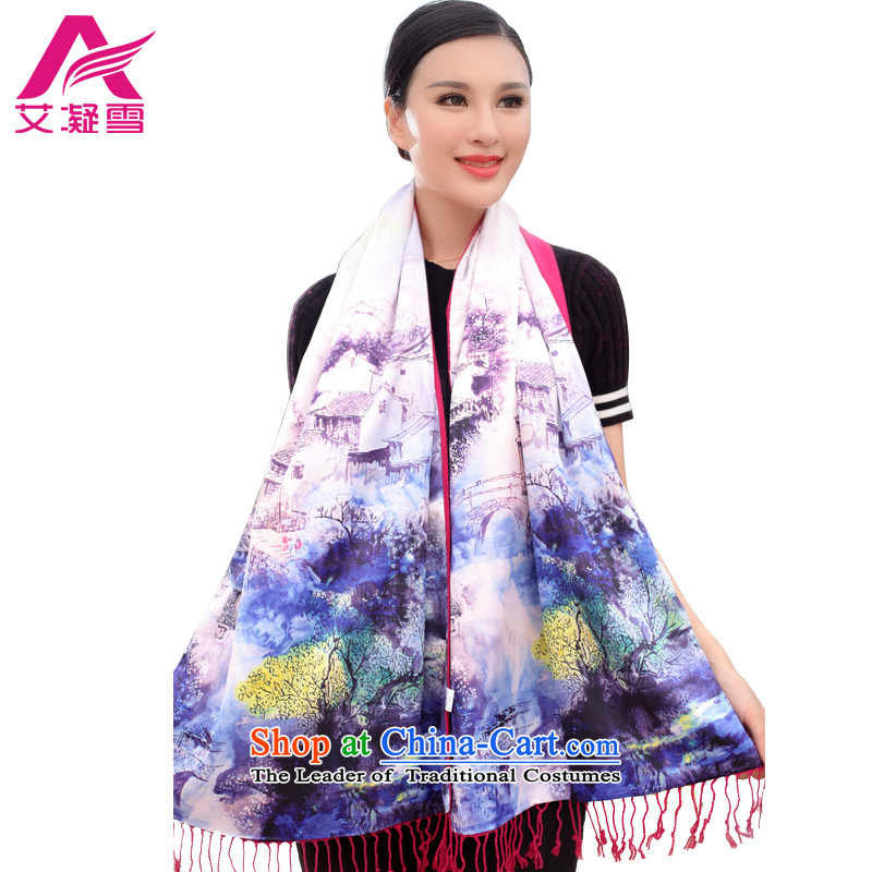 The Korean version of the stylish new 2015 Autumn and Winter Female warm longer scarves duplex printing large shawl thick solid color A WF52