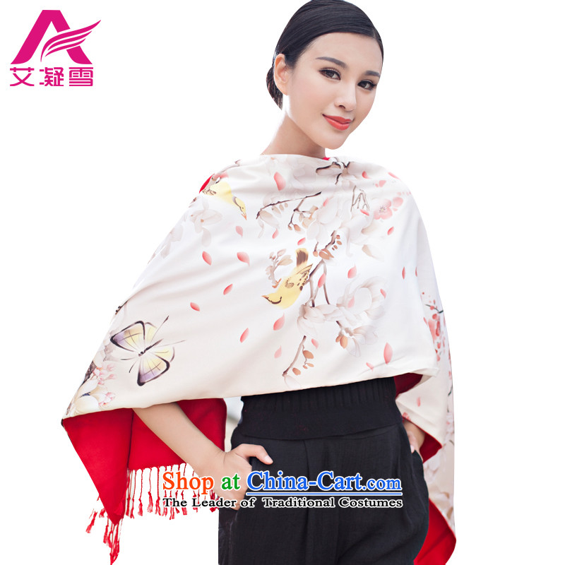 The Korean version of the stylish new 2015 Autumn and Winter Female warm longer scarves duplex printing large shawl thick solid color AWF54