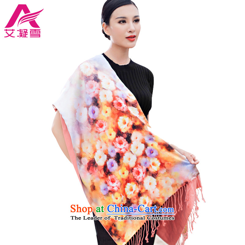The Korean version of the stylish new 2015 Autumn and Winter Female warm longer scarves duplex printing large shawl thick solid color A WF56