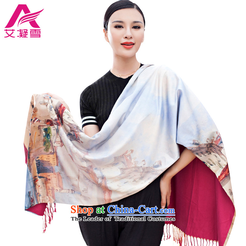 The Korean version of the stylish new 2015 Autumn and Winter Female warm longer scarves duplex printing large shawl thick solid color A WF57