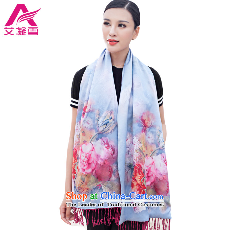 The Korean version of the stylish new 2015 Autumn and Winter Female warm longer scarves duplex printing large shawl thick solid color A WF65