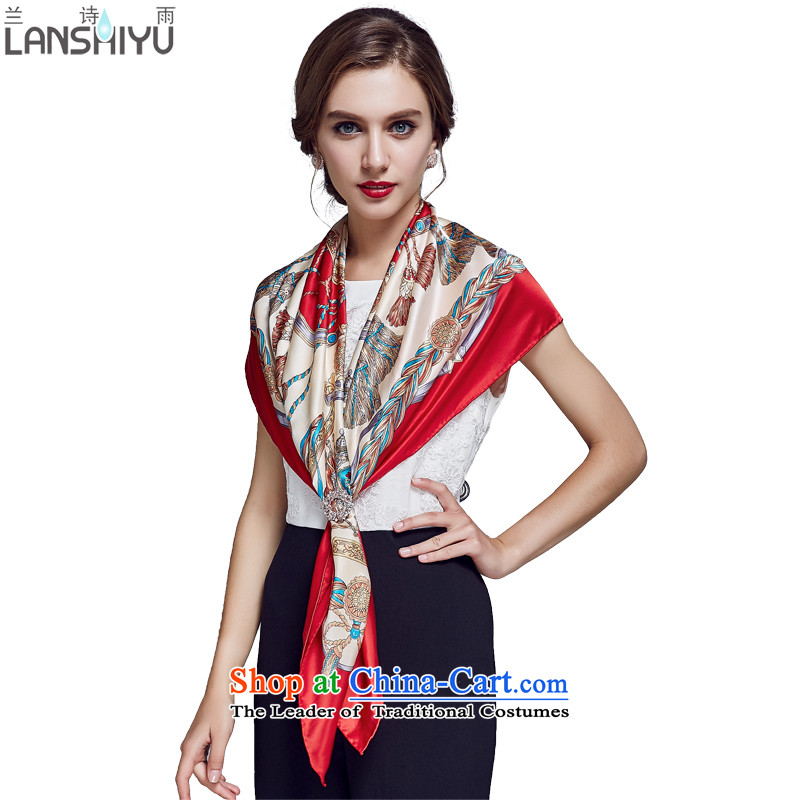 Ho Shih rain silk scarf and classy, herbs extract satin scarf autumn large shawl LSYW11502221400 gift bourdeaux