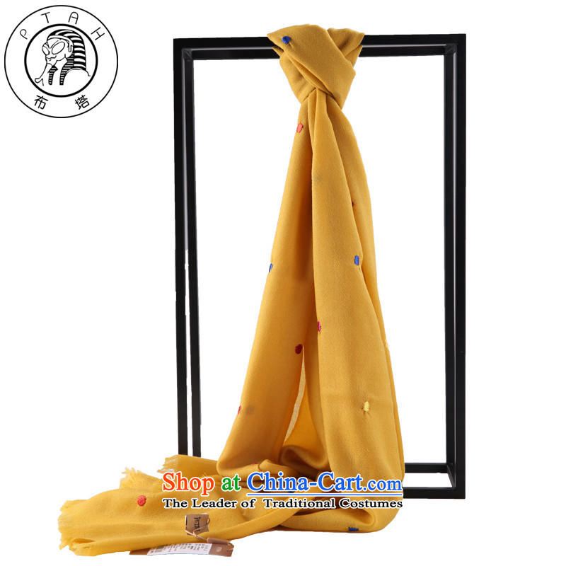 Buta woolen shawl Thick Long autumn and winter stylish Bohemia women with scarves wave point silk scarf yellow