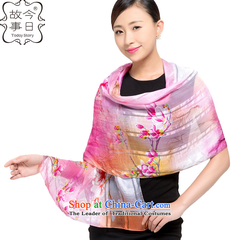 Today the story of silk scarves female herbs extract shawl Korean sunscreen beach towel satin purple mists upscale scarf dance orchids in 178048 light pink orchids