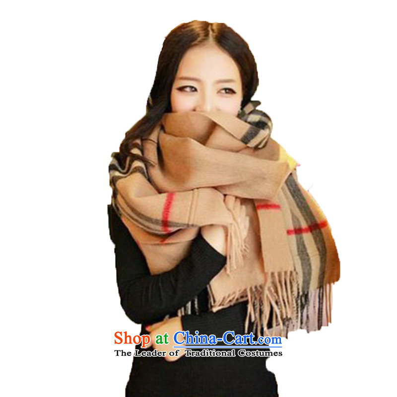 And Arabic scarf female autumn and winter female latticed England wool sweater,double-sided wind pockets warm shawl Grid
