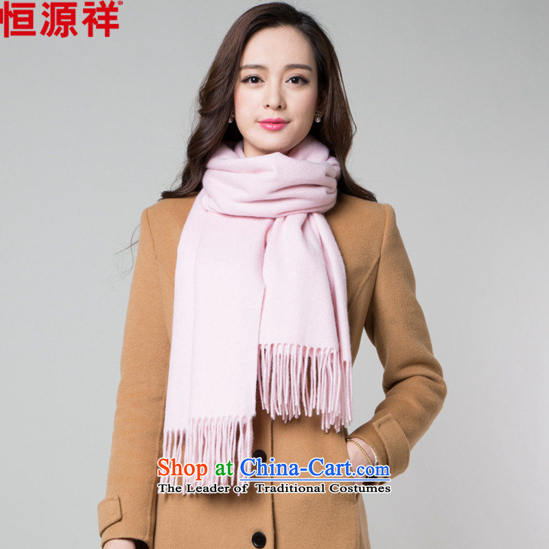 Hengyuan Cheung wooler scarf girl of autumn and winter thick intensify solid color scarf a warm air-conditioned room with two shawls聽9013 Pink