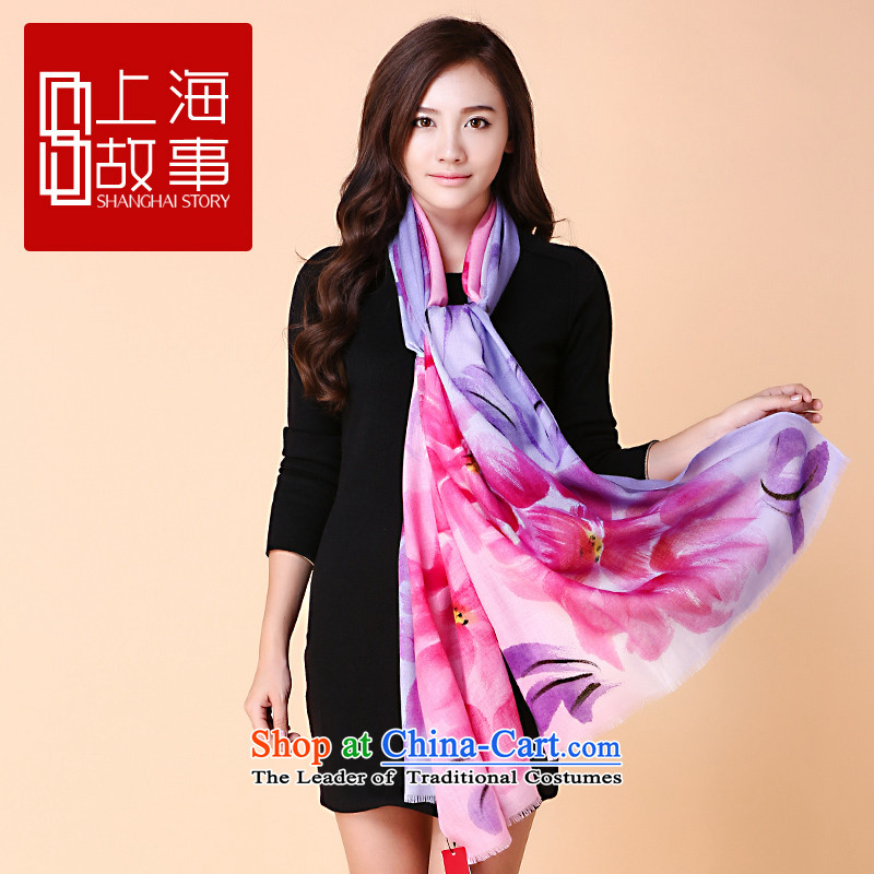 Shanghai Story Ms. pashmina long autumn warm winter Pure wool a shawl with colorful life two piece of suit 8 -